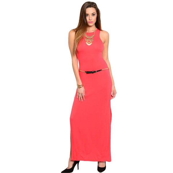Day Dresses - Women's Trendy Sleeveless Maxi Slit Dress