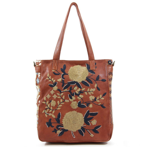 Black Floral Print Tote Bag