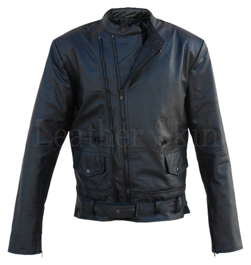 Black Brando Biker Leather Jacket
