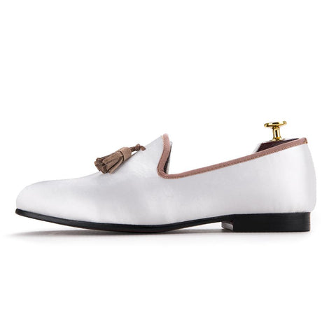 Sandals - Women's Trendy Beige Slipon Round Toe Loafers