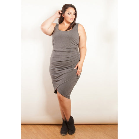 Plus Size Black Body Con Dress