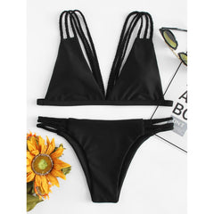 Braided Straps Bikini Set - Fashiontage
