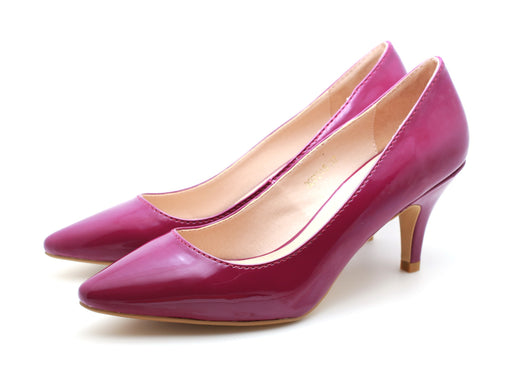 Patent Pointed Toe Pumps (Dark Purple)