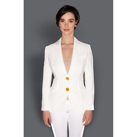 Ordinates - Women's Trendy White Collar Long Sleeve Suit
