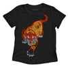 Shirts & Jersey Shirts - Women's Trendy Black Print Cotton T Shirt
