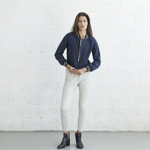 Blue Relaxed Fit Slim Denim Jacket