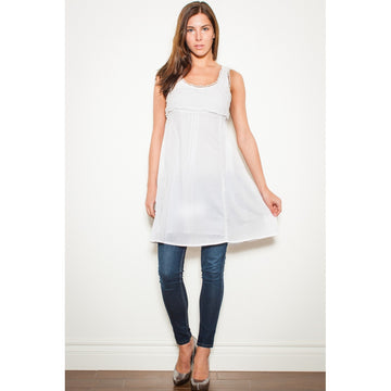White Lace Dress Top - Fashiontage