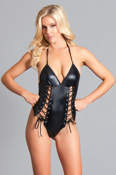 Leather Lace Up Sleepwear