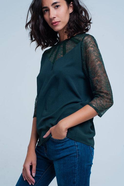 Green Sleeves Blouse