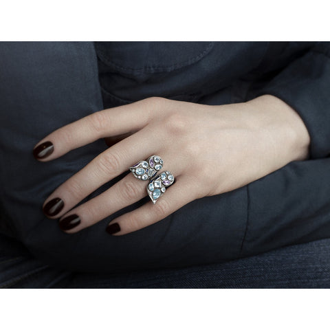 Silver Sterling Butterfly Ring