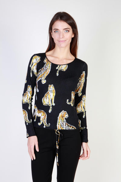 Cavalli Class Black Crew Neck Long Sleeve Sweater
