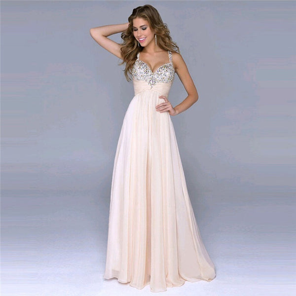 Pink High End Chiffon Wedding Dress
