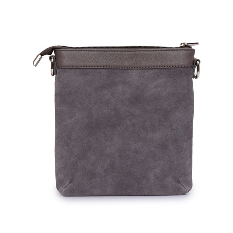 Backpacks - Women's Trendy Grey Crossbody Bag