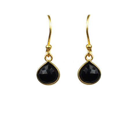 Earrings - Women's Trendy Black Sterling Silver Drop Earring Ring Jewelry Set