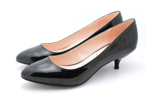 Pearl Patent Pumps (Black)