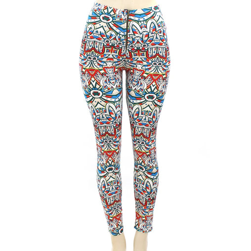 White Tribal Print Legging