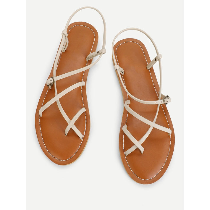 Apricot Toe Post Strappy Sandals