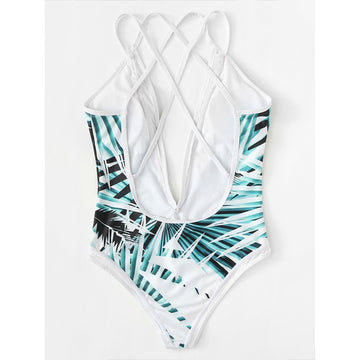 Multicolor Tropical Swimsuit - Fashiontage