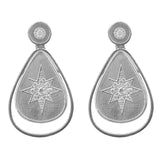 White Sterling Silver Star Butterfly Drop Earring Necklace Ring Jewelry Set