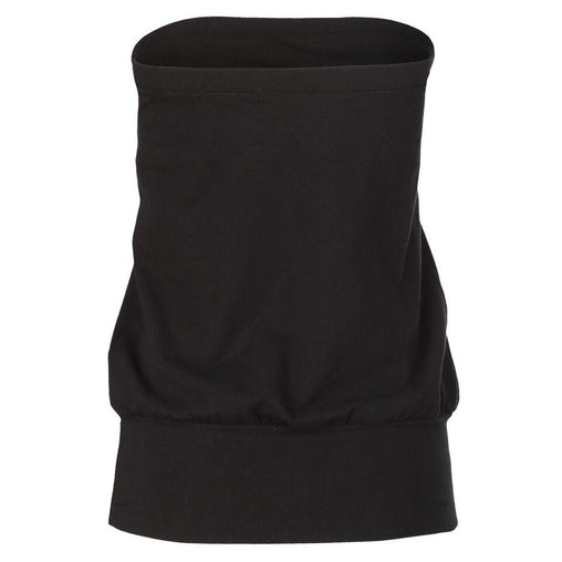 Black Crew Neck Sleeveless Top