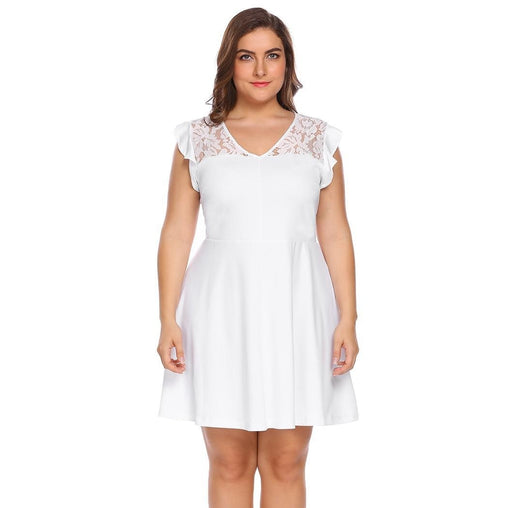 Plus Size Fit And Flare Casual Dress