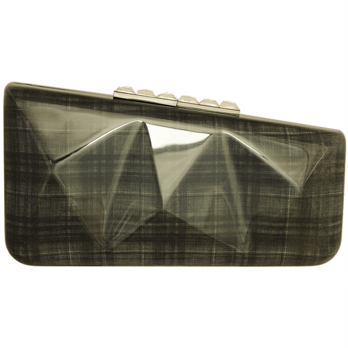Grey Lining Clutch Bag