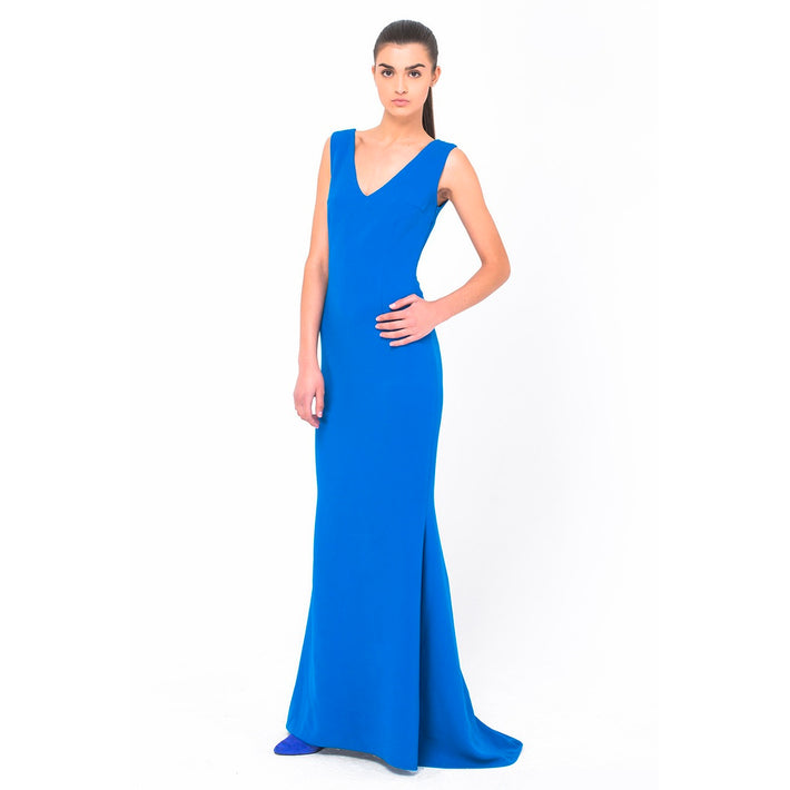 Blue Long Dress - Fashiontage