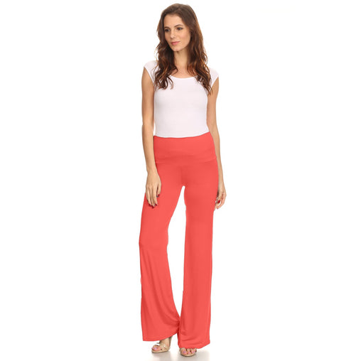 Orange Waist Band Loose Fit Wide Leg Pant