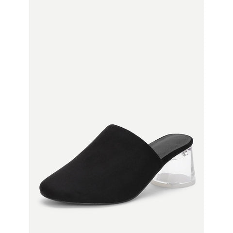 Black Rubber Mules - Fashiontage