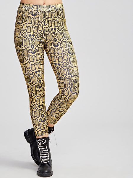 Snake Skin Print Leggings