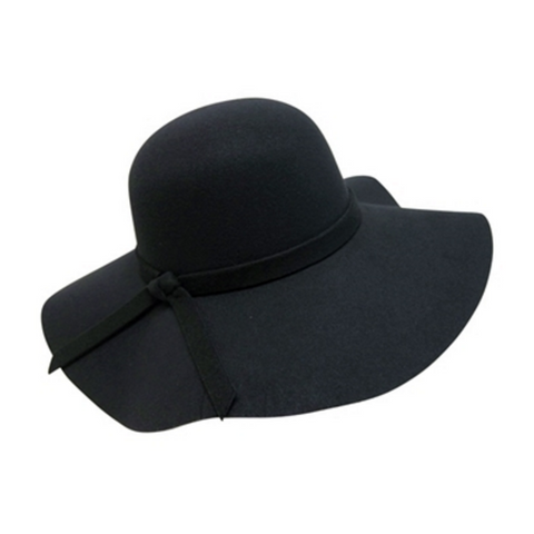 Mechaly Womens Floppy Black Vegan Hat
