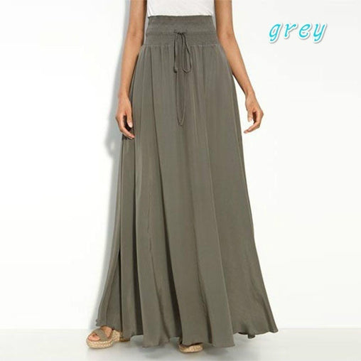 Long Polyester Maxi Skirt