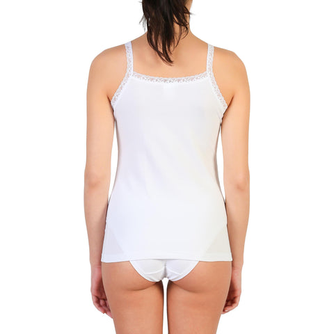 Vests & Tank Tops - Women's Trendy Pierre Cardin Underwear Camel Sleeveless Cotton Tank Top