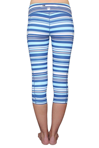Blue Stripe Pocket Activewear Bottom