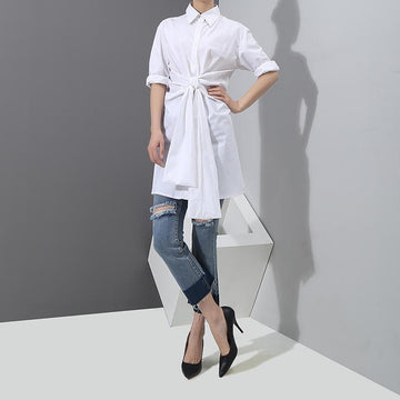 Black Collar Sleeves Shirt