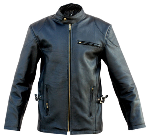 Black Fashion Genuine Leather Jacket