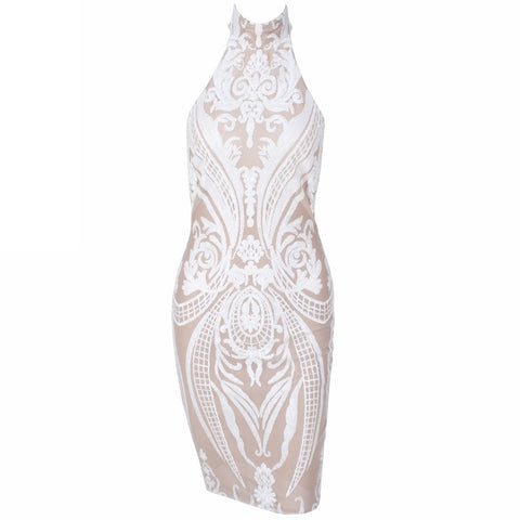 Bridal Dresses - Women's Trendy White Sequin Party Dress
