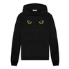 Hoodies - Women's Trendy Black Hooded Top