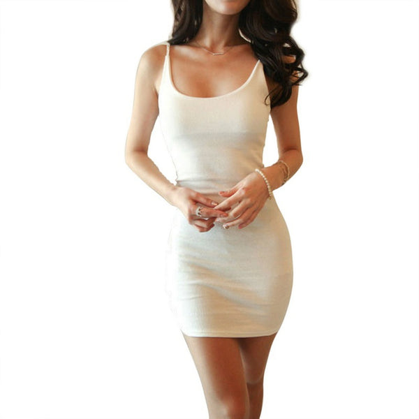 Day Dresses - Women's Trendy Black White V-neck Sundress Dress