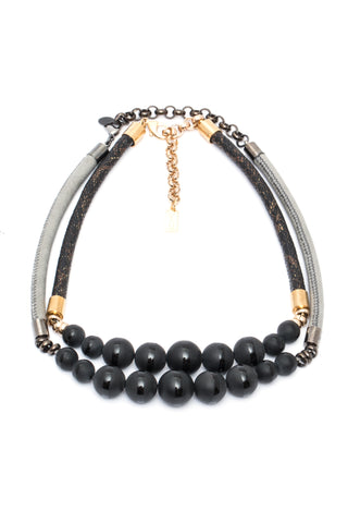 Black Beads Necklace