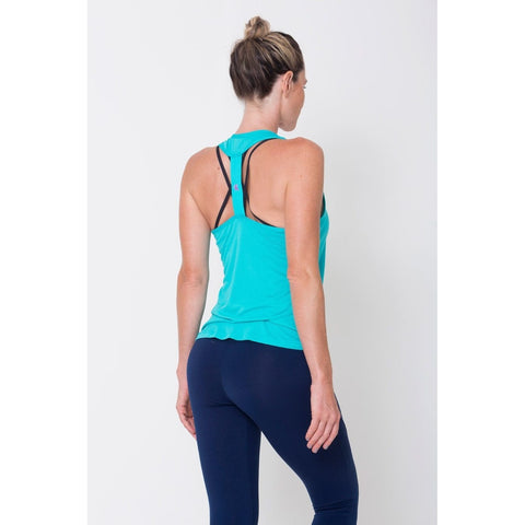Activewear Tops - Women's Trendy Relaxed Short Hem Sports Bra
