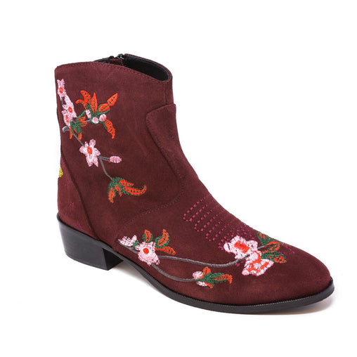 Embroidered Booties - Fashiontage