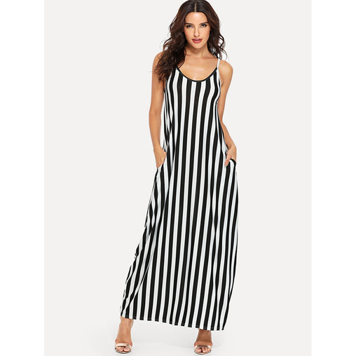 Block Striped Cami Dress
