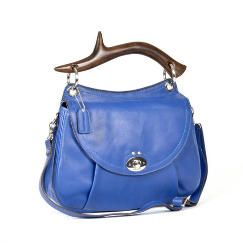 Messenger & Crossbody Bags - Women's Trendy Blue Calf Crossbody Bag
