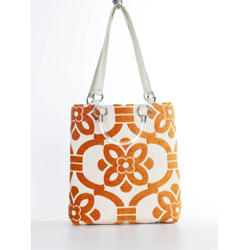Orange Stencil Large Tote Bag
