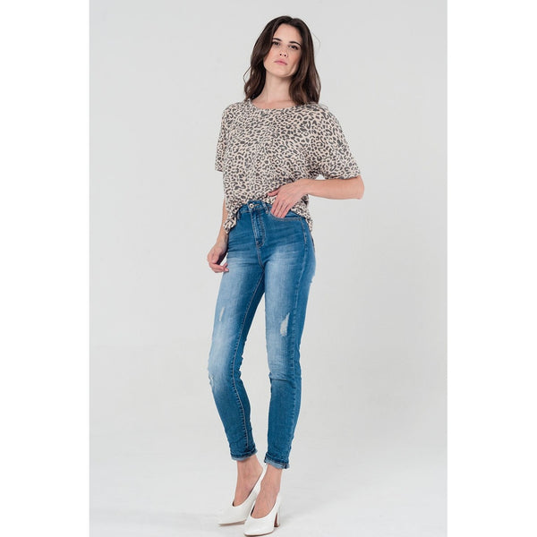 Blue Skinny Midrise Jeans