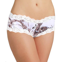 3 Pack Women's Booty Lace Boy Shorts Authentic True Timber Camo Panties - Fashiontage