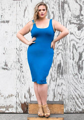 Plus size Blue Tank Dress
