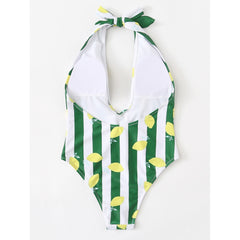Multicolor Stripe Swimsuit - Fashiontage