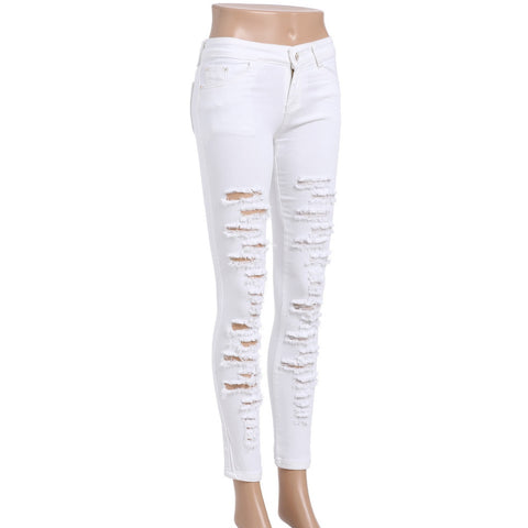 Distressed Ankle Jeans - Fashiontage